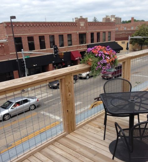 A view from the deck of 1912. The new bar/restaurant opens July 31.