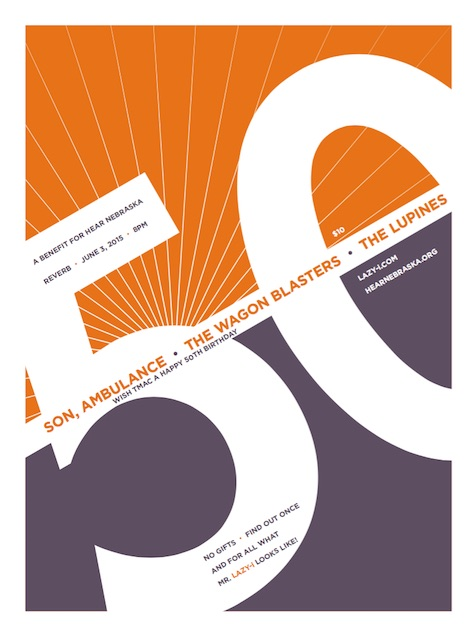 The 50th Birthday Concert at Reverb, June 3, 2015. A benefit for Hear Nebraska.