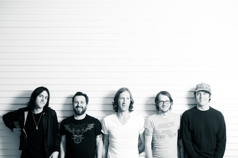 Desaparecidos, from left, are Conor Oberst, Matt Baum, Denver Dalley, Landon Hedges and Ian McElroy. Photo by Zach Hollowell.