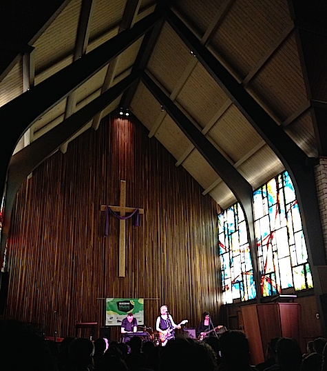 EMA captivated the fans in the pews at Central Presbyterian Church.