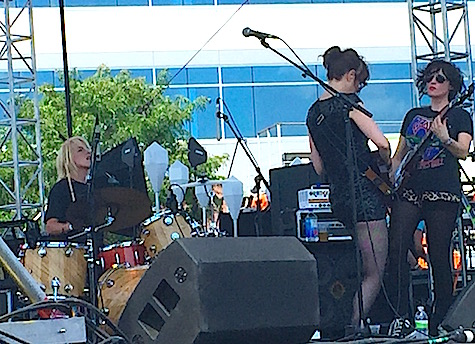 Ex-Hex on the Maha Music Festival main stage, 8/15/15.