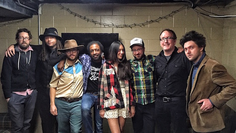 Dolores Diaz & the Standby Club, from left, are Ben Brodin, Miwi La Lupa, Dan McCarthy, Roger Lewis, Corina Figueroa, Mike Mogis, Matt Maginn and Conor Oberst. Not pictures is Phil Schaffart.