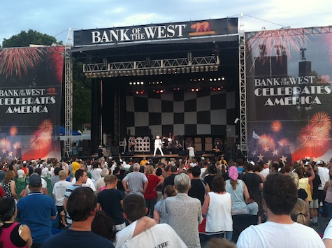 Cheap Trick at the Bank of the West concert in 2011. Now that's a band I wouldn't mind seeing again in Memorial Park...