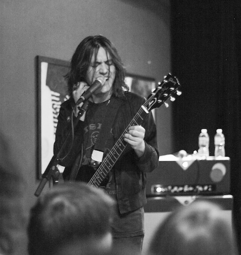 Conor Oberst of Desaparecidos at Slowdown Jr. April. 23, 2012. Photo by Dan Thompson III.