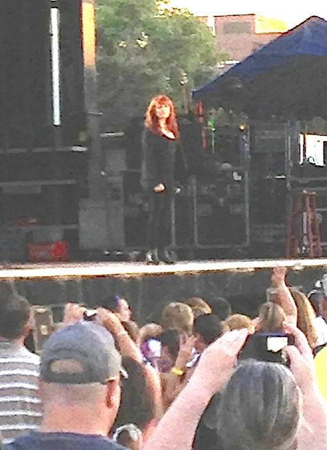 Pat Benatar at Memorial Park, June 28, 2013.