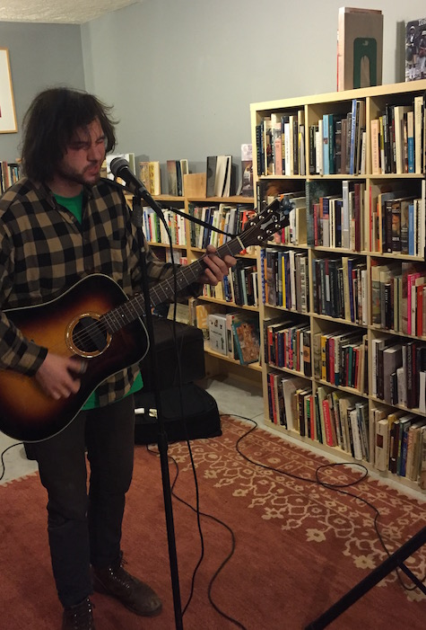 Ryley Walker at Almost Music, April 10, 2016.