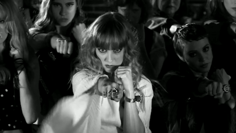 "A screen capture from The Mynabirds' ""Generals"" video."