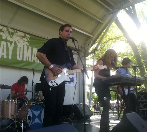 Icky Blossoms on the Earth Day stage in Elmwood Park, April 21, 2012.