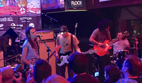 Speedy Ortiz at Cedar Street Courtyard, March 18, 2015.