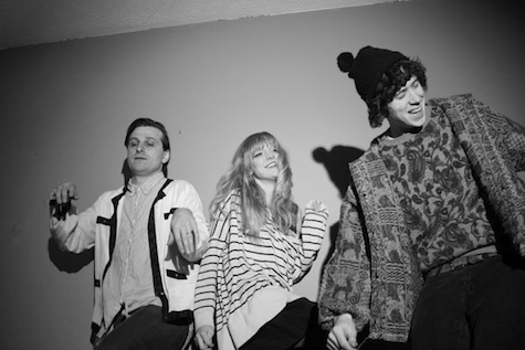 Icky Blossoms, from left, Derek Pressnall, Sarah Bohling and Nik Fackler.
