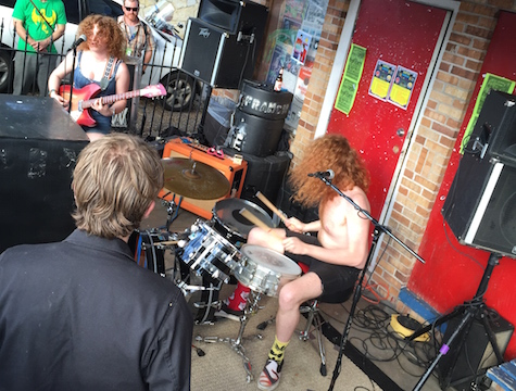 White Mystery at Beerland Patio, March 18, 2015.