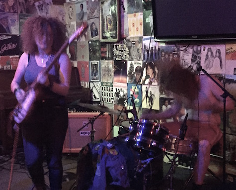 The blurring red heads of White Mystery at O'Leaver's, Aug. 31, 2015.
