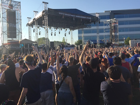 The crowd gets into Atmosphere at The Maha Music Festival, 8/15/15.