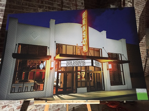 Rendition of the Benson Theater, revealed last night.