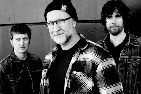 Bob Mould, center, with Jason Narducy, left, and Jon Wurster. Photo by Peter Ellenby.