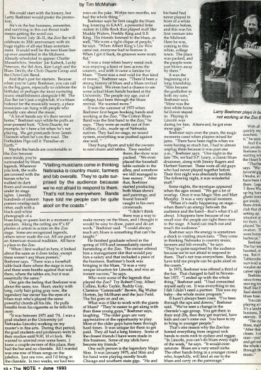 Behind Bars, pg. 1, The Note, June 1993