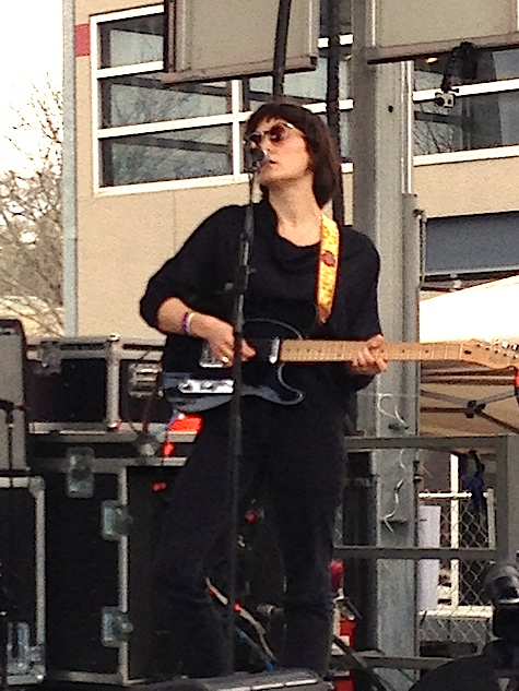 Cate Le Bon on the Waterloo Records stage March 14, 2014.