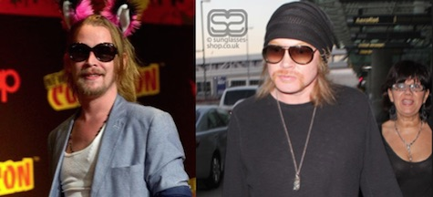 Macauly Caulkin and Axel Rose separated at birth? One of them plays at The Waiting Room tonight...