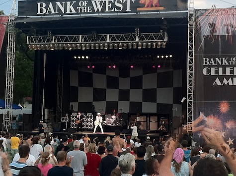 Cheap Trick at Memorial Park, July 1, 2011.