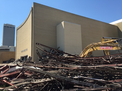 Demolition has begun on the Civic Auditorium...