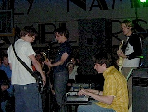 Desaparecidos rock the Holy Name Fieldhouse in April 2001.