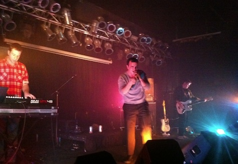 Future Islands at The Waiting Room, Nov. 2, 2011.