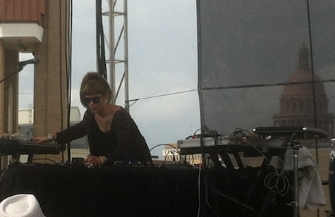 Grimes at the 9th & Trinity parking garage, SXSW, March 16, 2012.