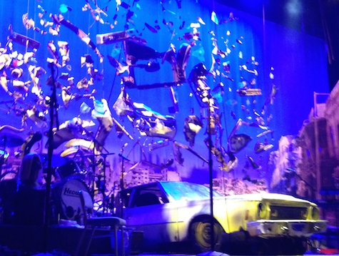 The set for Hedwig and the Angry Inch at the Belasco on Broadway. Getting a shot during the performance was impossible as vultures were circling, warning people that photos were not allowed...