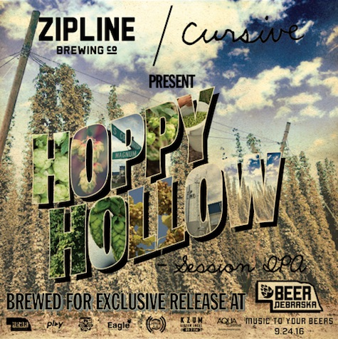 The new beer by Zipline with the essence of Cursive in every bottle...