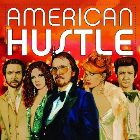 Album sleeve for the upcoming vinyl release of the American Hustle soundtrack.