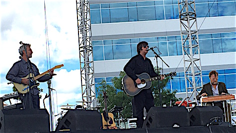 Jay Farrar Trio were the first ones on the big Weitz Stage Saturday.