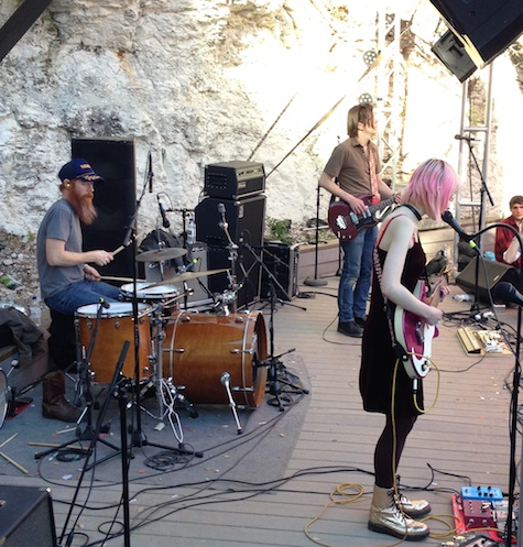 The amazing Jessica Lea Mayfield outside at Cheer Up Charlie's.