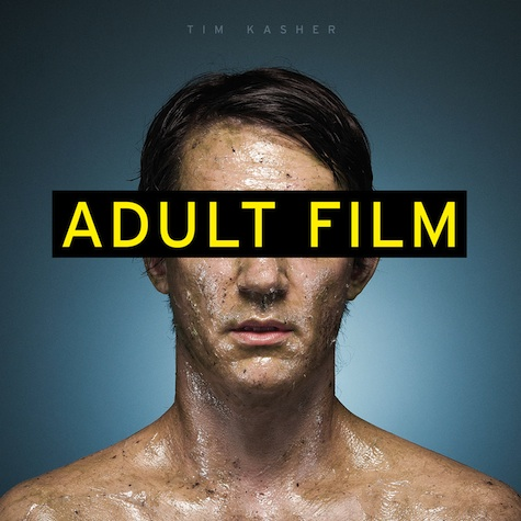 Sticky album art for Tim Kasher's new album, Adult Film (2013, Saddle Creek).