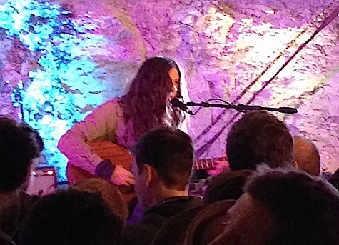 Kurt Vile performed his set sitting down on a stage with poor sightlines to begin with. What were you thinking, Kurt?