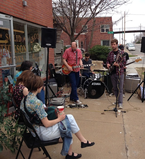 The Lupines playing at Almost Music's  Record Store Day show April 19, 2014.