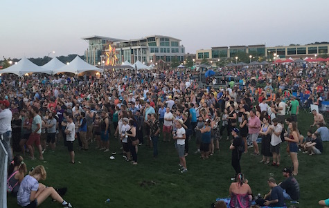 The crowd gathered to listen to The Good Life during the 2015 Maha Music Festival, Aug. 15, 2015.