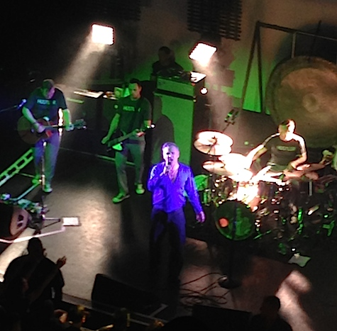 Morrissey desperately searched for me in the balcony during last night's performance at The Rococo Theater.