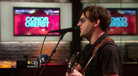 Conor Oberst on CBS This Morning last weekend.