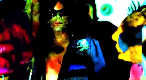 "A screen capture from Of Montreal's video for ""Fugitive Air,"" the first single off their latest album."