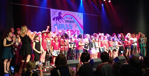The big finale at the Omaha Girls Rock! 2013 summer camp showcase.