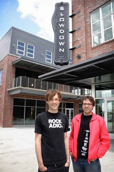 Robb Nansel, left, and Jason Kulbel stand in front of Slowdown waaay back in June 2007.