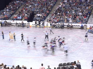 Roller Derby action at the MAC Center, 2/19/11.