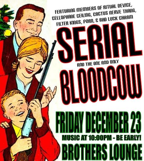 SERIAL (ex-Ritual Device, Cellophane Ceiling and ohters) plays tonight at The Brothers Lounge.