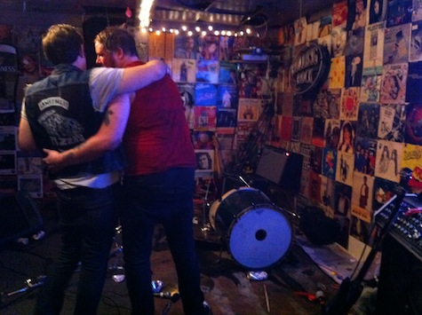 The aftermath: Moments after the violent ending of the June 25 show at O'Leaver's.