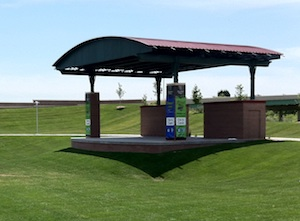 The Stinson Park fixed stage.