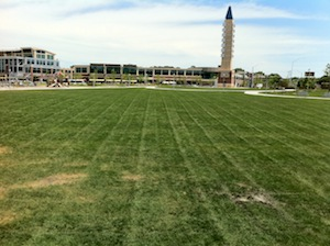 The view from the fixed stage at Stinson Park / Aksarben Village.