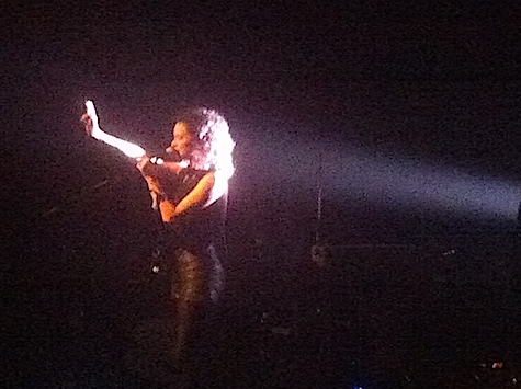St. Vincent at The Slowdown back in May 2012. She plays tonight at Sokol Auditorium.