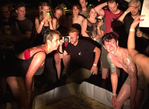 Round 3 of the Spaghetti Wrestling Tournament at Sweatfest, July 18, 2015.