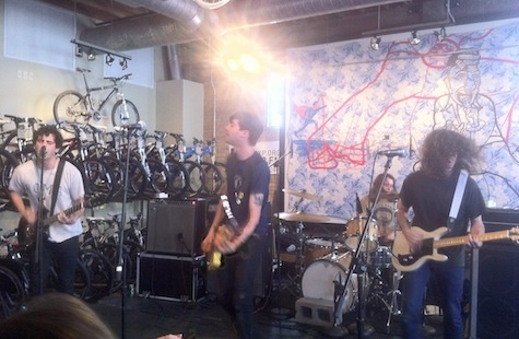 The Men at Mellow Johnnys Bike Shop, SXSW, March 16, 2012.