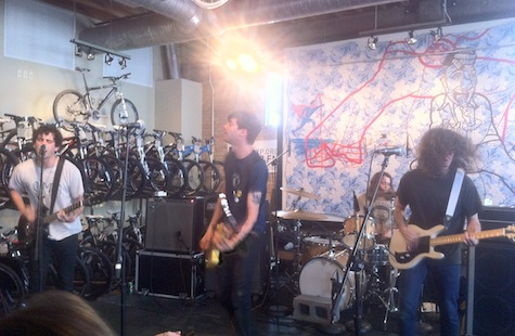 The Men at Mellow Johnny's Bike Shop, SXSW, March 16, 2012.